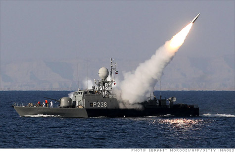 Iran's missile launches have heightened concerns over its threat to close the Strait of Hormuz, leading to a rise in oil prices.