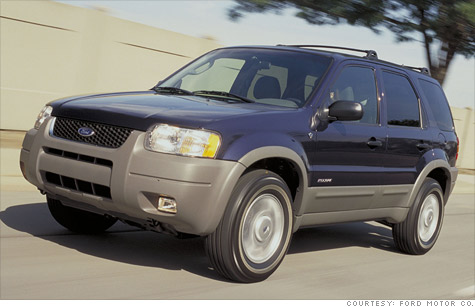 A 2002 Ford Escape, one of the vehicles in the current recall.