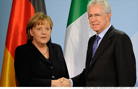 merkel, monti