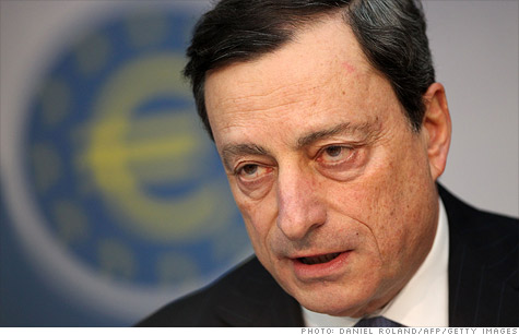 European Central Bank president Mario Draghi said the bank's non-standard measures are helping ease conditions in the interbank funding market.