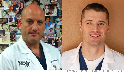 Dr. Jeffrey Meltzer, [left], and Dr. Jim Dahle, say physicians need to smarten up when it comes to business.