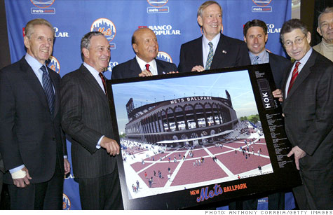 A federal judge's ruling regarding a lawsuit from the trustee in the Bernard Madoff case favored the owners of the New York Mets, including Fed Wilpon, left, and Saul Katz, third from left, shown here in 2009.