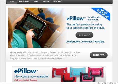 The ePillow is one of the products that has been entered into Wal-Mart's 