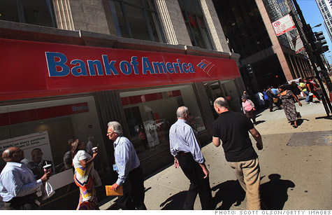 Bank of America reversed a year-earlier loss, helped by increasing loan volume.