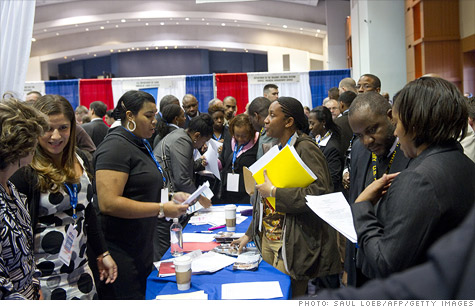 The number of people filing for unemployment benefits fell to 352,000. It's the best jobless claims figure since April 2008.