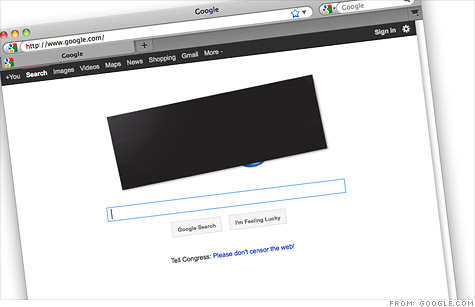 Google blacked out its logo last week in opposition of the Stop Online Privacy Act and the Protect IP Act.