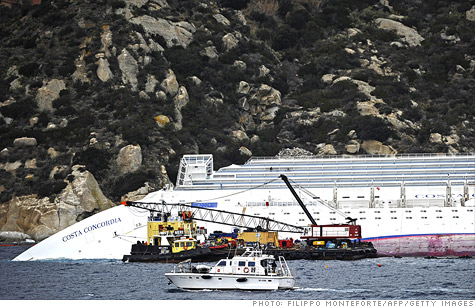 Carnival altered its forecast for 2012 and said it will take a hit of up to $395 million from the deadly crash of the liner Costa Concordia and the rising cost of fuel.