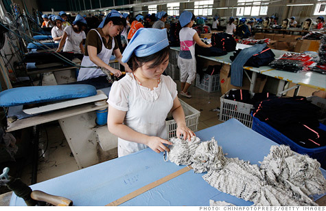 The Chinese government reported a slight increase in manufacturing activity in January.