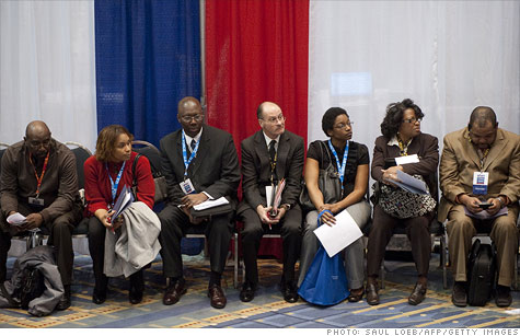 Job seekers like these in Washington D.C. may be looking for a while longer. Planned job cuts for the month of January totaled 53,486, according to Challenger report.
