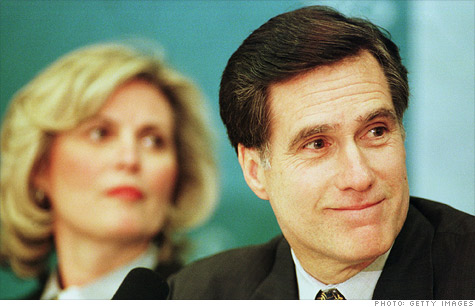GOP presidential candidate Mitt Romney in 1999, the year he left Bain Capital with an exit package that is taxed more lightly than it would be if he retired from a corporation.
