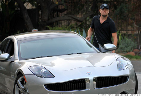 Leonardo DiCaprio and his Fisker Karma