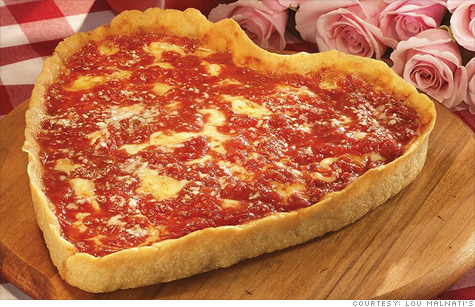 As Google searches for heart-shaped pizzas soar this year,  Chicago pizzeria chain Lou Malnati's is helping strike love connections nationwide on Valentine's Day with its special