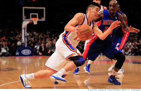 Former Knicks' benchwarmer Jeremy Lin has pushed the basketball team to a five game winning streak.