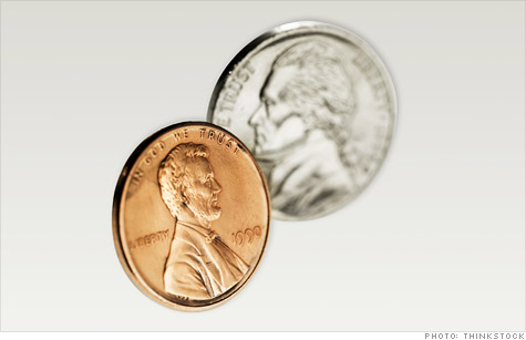 Treasury is looking at changing the mix of metals used to make pennies and nickels in a cost-savings effort.