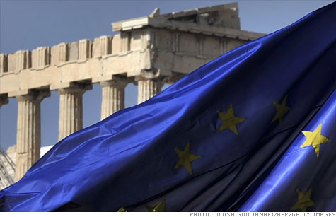 European finance ministers will meet Monday to attempt to avert a Greek default.