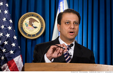 Preet Bharara, the U.S. Attorney for the Southern District of New York, who filed new charges Friday in the ongoing probe of insider trading.