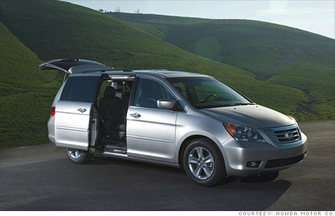 Honda is recalling 46,000 Odyssey minivans for faulty tailtate struts.