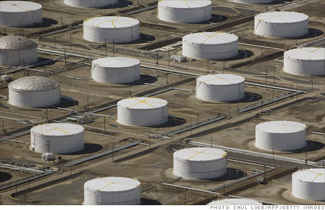 An oil depot, or fuel farm, is seen from the air over Carson, California. The industry has a plan that could make the country energy independent  - but that would entail drilling nearly everywhere.