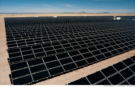 Shares of solar power company First Solar dropped in after-hours trading Tuesday following disappointing quarterly results.
