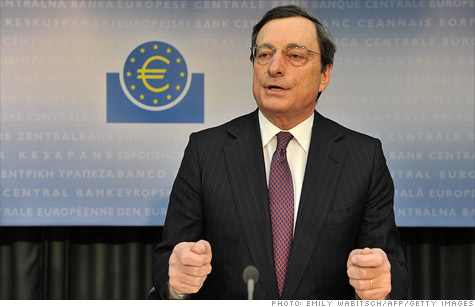 Mario Draghi, president of the European Central Bank, at a press conference earlier this month. The ECB released a second round of low-cost 3-year loans to European banks Wednesday.