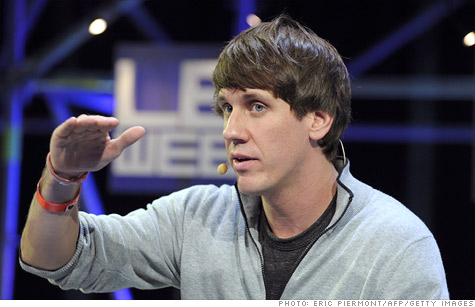 Foursquare CEO Dennis Crowley at a conference in December 2011.