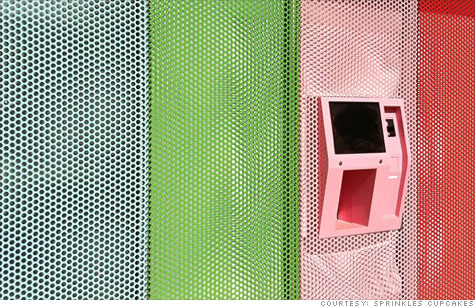 The Sprinkles cupcake ATM, set to open in Beverly Hills.