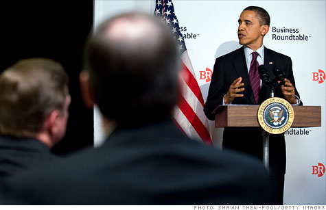 President Obama met with the Business Roundtable for an hour Tuesday night to talk about ways to create jobs.
