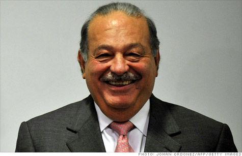 Forbes Magazine released its annual rankings of the world's richest people on Wednesday, with Mexican telecom Carlos Slim Helu retaining the top spot for the third year in a row.