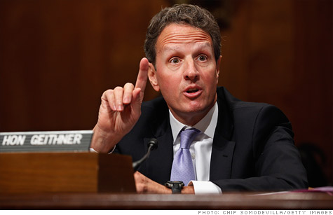 Treasury Secretary Tim Geithner is a big winner with news that Treasury made a profit selling mortgage-backed secutities.