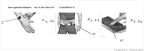 The sketches in Nokia's patent application show how its proposed 