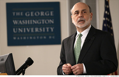 Federal Reserve Chairman Ben Bernanke lectures at George Washington University.