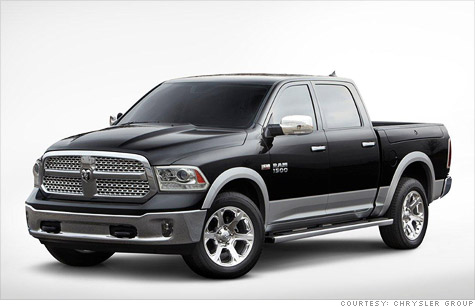 The redesigned Ram pickup doesn't look much different -- there are subtle changes to the grill and headlights -- but Chrysler promises much improved fuel efficiency.