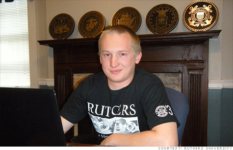 Rutgers sophomore Gary Twerdak, who served in Iraq, is one of 416,000 veterans who enrolled this semester on the Post-9/11 GI Bill. The surge created a bureaucratic backlog for Veterans Affairs.