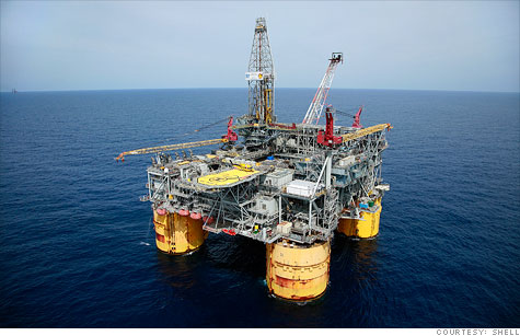 Royal Dutch Shell said it is responding to an oil sheen spotted near its Ursa platform, 130 miles southeast of New Orleans.