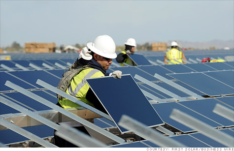 First Solar announced 2,000 job cuts, though most of them will occur in Germany. U.S. workers, such as those at the Desert Sunlight Solar Farm in California, will be largely spared.