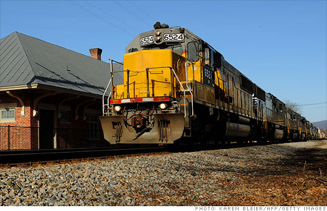 Choo-choo! Despite a slump in coal shipments, railroad owners are expected to post strong first-quarter results. That's good news for the health of the overall economy.