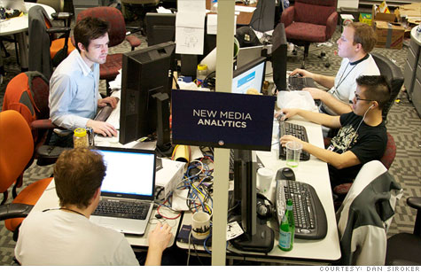 Dan Siroker helped build the Obama election campaign's analytics team, shown here in 2008.