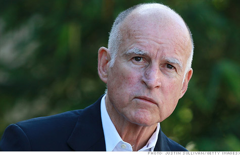 California Governor Jerry Brown wants to raise taxes on the rich to close the state's $16 billion budget gap.