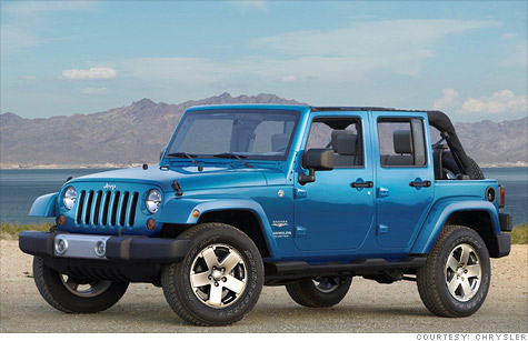 A skid plate in some 2010 Jeep Wranglers can catch debris which can catch fire.