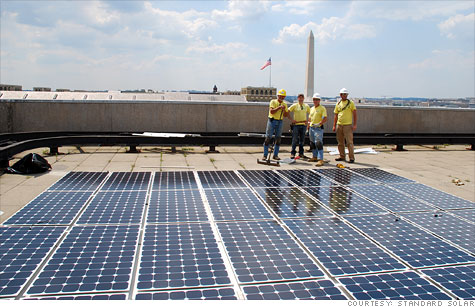 Standard Solar, a Maryland-based solar panel installer, has been growing fast, but its CEO fears new tariffs on imported Chinese panels could slow the company's growth.