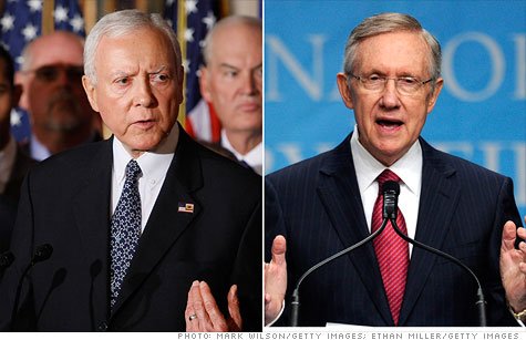 Senate Republicans, led by Orrin Hatch, and Senate Majority Leader Harry Reid have exchanged sharply worded letters on dealing with the fiscal cliff.
