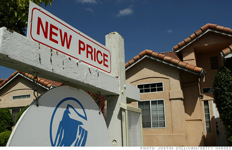 Home prices hit new lows.
