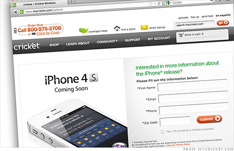 First pre-paid iPhone comes to Cricket Wireless - May. 31, 2012