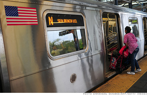 Ridership on the nation's buses and trains has its one of its biggest quarterly jumps ever, as high gas prices and a rebounding economy entice commuters to mass transit.