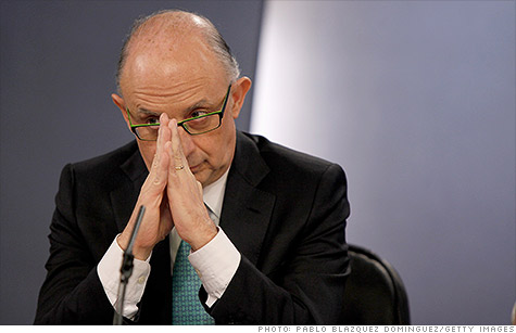 Spanish Treasury Minister Cristobal Montoro, shown here during a budget presentation in March, said the credit market is seizing up for Spain.