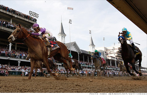 I'll Have Another, shown here winning the Kentucky Derby, will likely earn far more in stud fees than it could have earned even if it had won the Triple Crown.