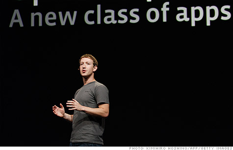Mark Zuckerberg took the wraps off Facebook's new