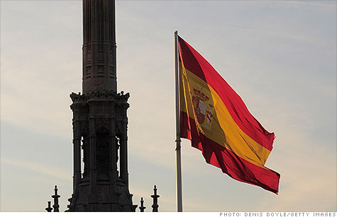 Spain's average yield for its 10-year bonds reached 7% over concerns about its debt load and banking sector.