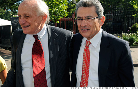 Rajat Gupta, right, was convicted of insider trading Friday.