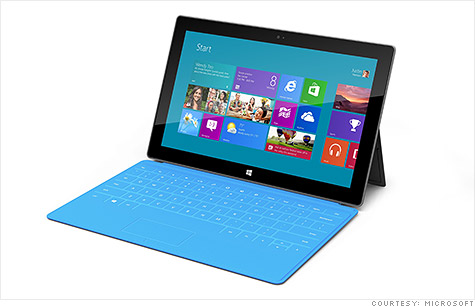 Microsoft's self-designed Surface will go head-to-head with Apple's iPad.